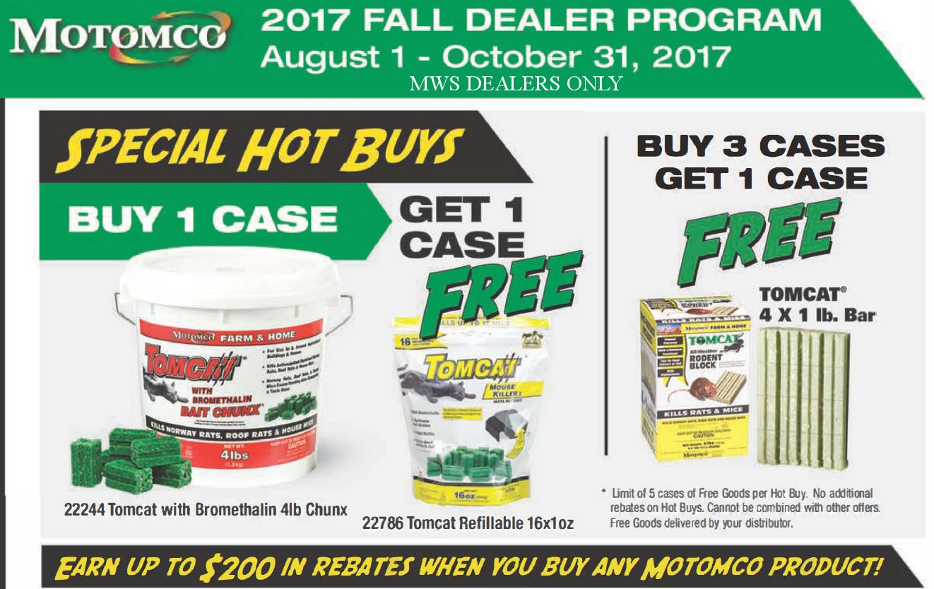 Motomco Fall Dealer Promotion