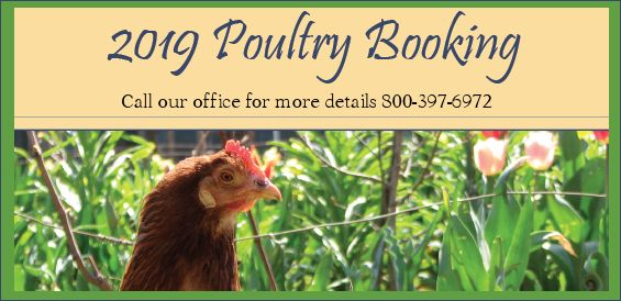 2019 Poultry Booking